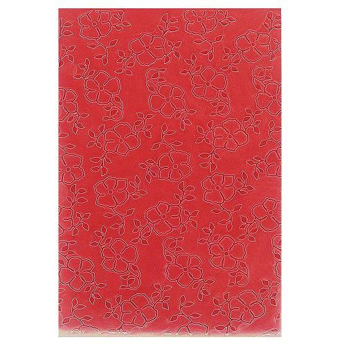 Placa de Textura Emboss 10,6 cm x 15 cm Mini Flor com Folhas