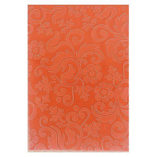 Placa de Textura Emboss 10,6 cm x 15 cm Flores Folhas Decor