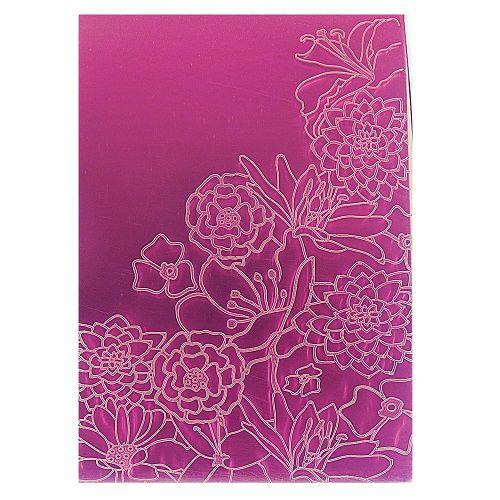 Placa de Textura Emboss 10,6 cm x 15 cm Dálias e Margaridas
