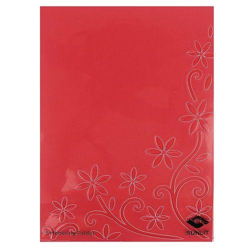 Placa de Textura Emboss 11 cm x 14,6 cm Carta Margaridas