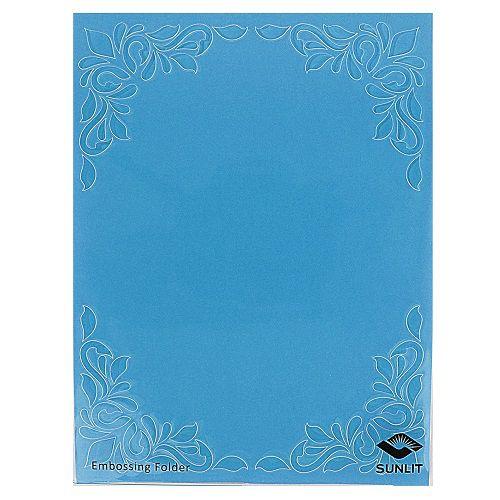 Placa de Textura Emboss 11 cm x 14,6 cm Carta Arabesco