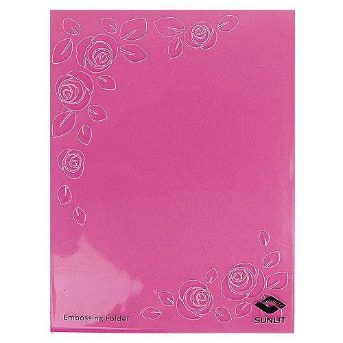 Placa de Textura Emboss 11 cm x 14,6 cm Papel Carta Rosas