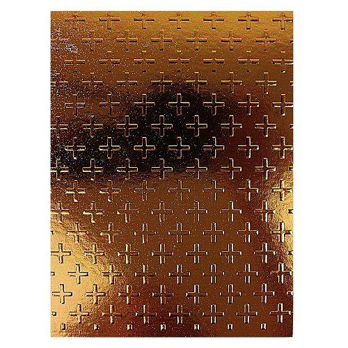 Placa de Textura Emboss 11 cm x 14,6 cm Estampa Plus