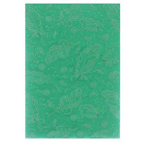 Placa de Textura Emboss 13 cm x 18 cm Penas