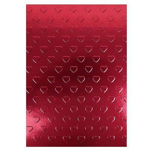 Placa de Textura Emboss 12,9 cm x 18,4 cm Coração