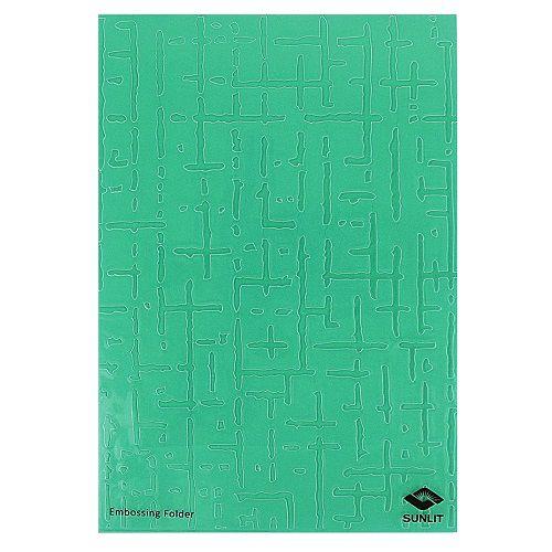 Placa de Textura Emboss 12,9 cm x 18,4 cm Parede Rústica