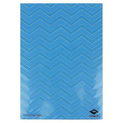 Placa de Textura Emboss 12,9 cm x 18,4 cm Chevron