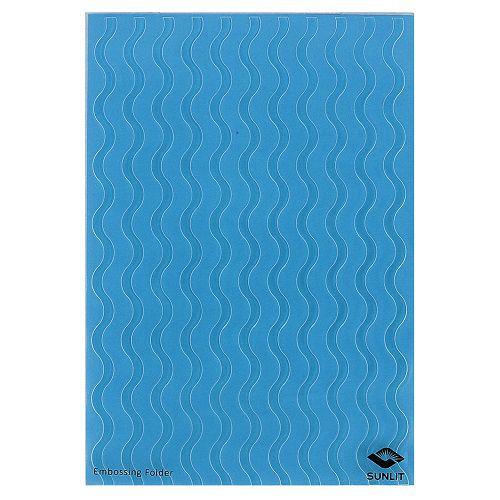 Placa de Textura Emboss 12,9 cm x 18,4 cm Ondas