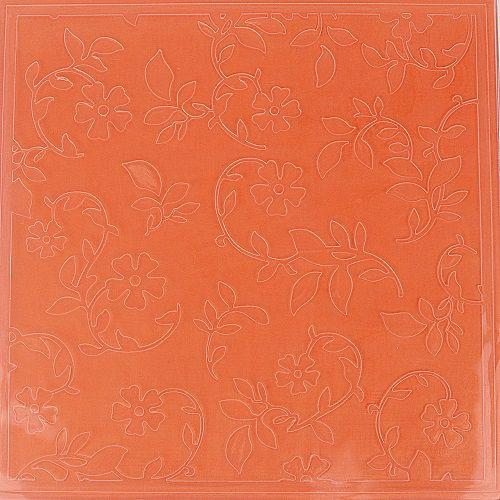 Placa de Textura Emboss 14 cm x 14 cm Margaridas