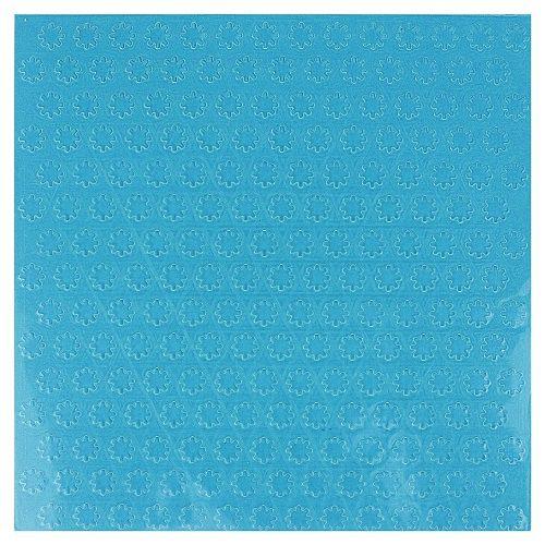 Placa de Textura Emboss 14 cm x 14 cm Mini Flocos de Neve