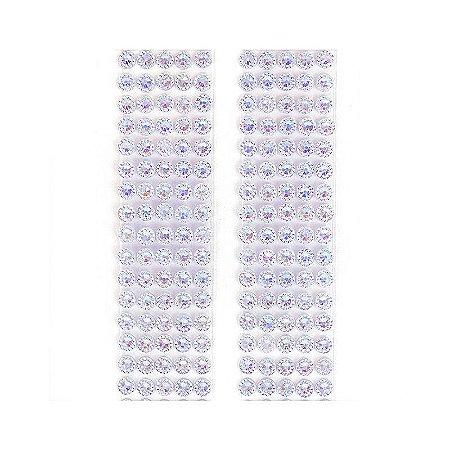 Adesivo Chaton Decorativo Azul Claro Cristal 100 Unidades