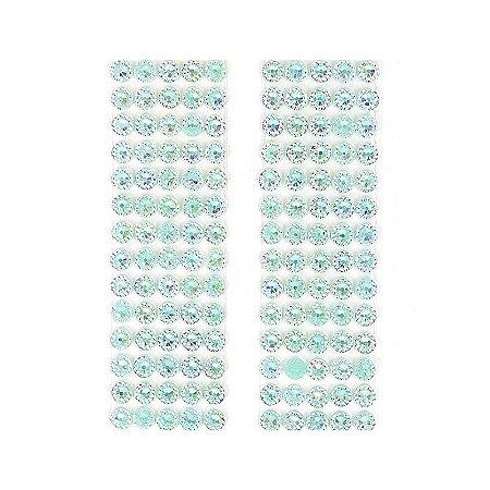 Adesivo Chaton Decorativo Verde Água Cristal 100 Unidades