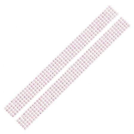 Adesivo Chaton Decorativo Rosa Cristal 100 Unidades