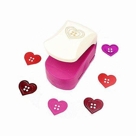 Furador para Papel 25 mm Coração Botão Emboss