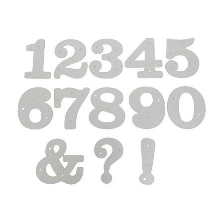 Kit Faca de Corte Números e Pontuação 13 Peças