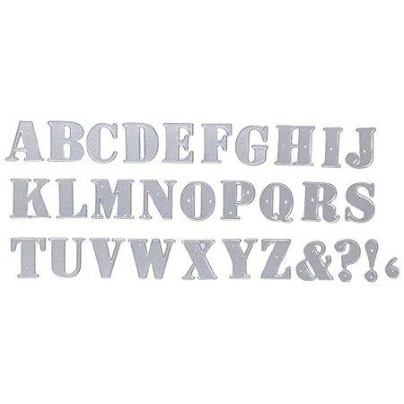 Kit Faca de Corte Alfabeto e Pontuação 30 Peças