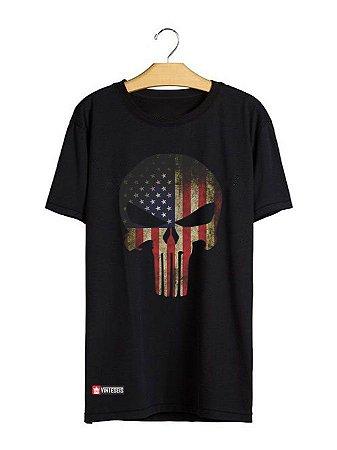 Camiseta Skull USA