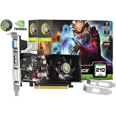 Placa De Vídeo Nvidia Geforce G210 1gb Ddr3 Point Of View