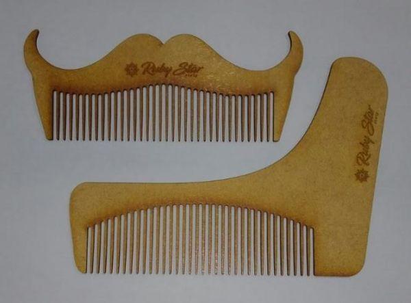 Duo de Pentes de Madeira para Barba - Ruby Star