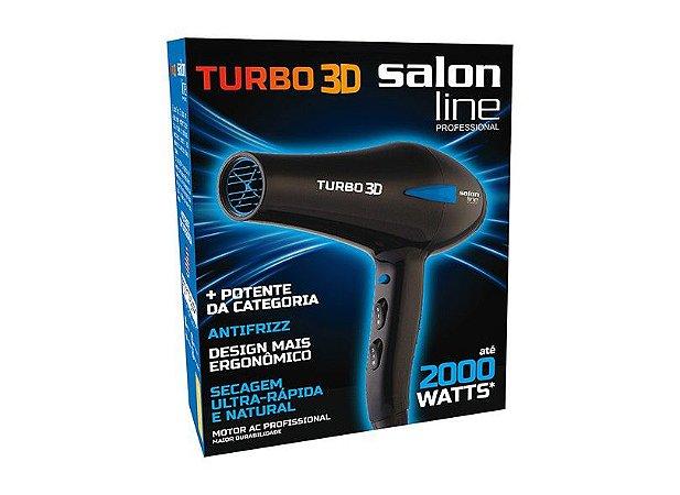 Secador Turbo 3D Salon Line Professional - 2000w  - 110v ou 220v