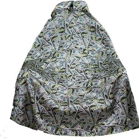 Capa de Corte em Cetim - Dólares - Tam. Adulto (Padrão)