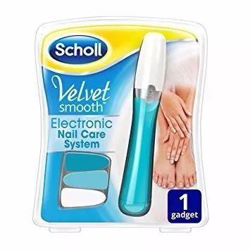 Lixa Eletrônica Manicure Pedicure Velvet Smooth Cares System - Scholl