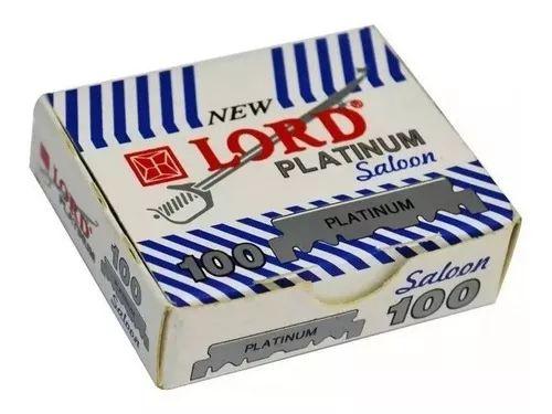 Lâmina Cortada Lord Platinum (Branca) - 5 Caixinhas com 100 Unidades Cada