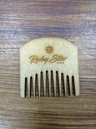 Pente Pequeno - Barba e Bigode - Madeira - Ruby Star