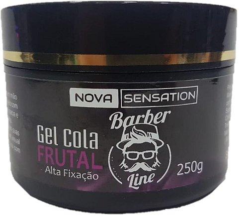 Gel Cola Barber Line Frutal - Alta Fixação (250g)