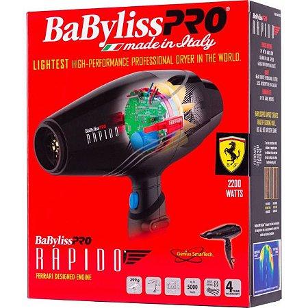 Secador BabyLiss Pro Rápido Genius Smartech - Motor Ferrari - 2000w