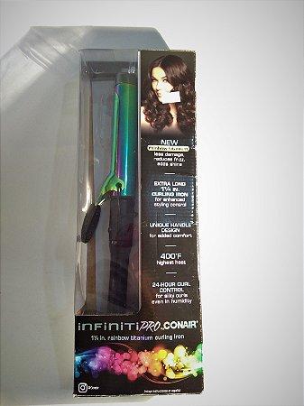 """Modelador de Cachos Rainbow Titanium Conair - 1, 1/4"""" - 204,44ºC"""