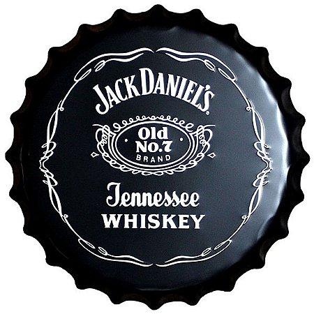 Tampa Cerâmica Decor Barber Jack Daniels - 38cm