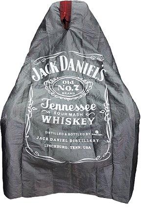 Capa de Corte em Tafetá - Jack Daniels - Tam. Adulto Padrão - Disponível com zíper preto - Divinas Capas