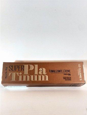 Tonalizante Creme Super Platinum Profissional - Sem Amônia - Lé Charme's - 60g - Loiro Bege Pérola