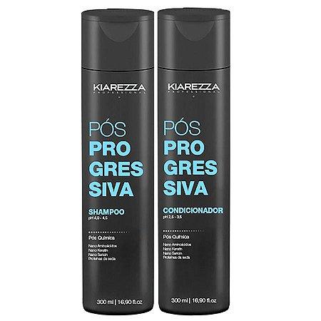 Pós Progressiva Shampoo + Condicionador Kiarezza Professional - 300ml + 300ml
