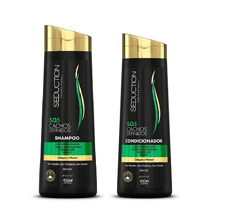 Seduction Professional S.O.S. Cachos Definidos  Shampoo (450ml) + Condicionador (450ml)