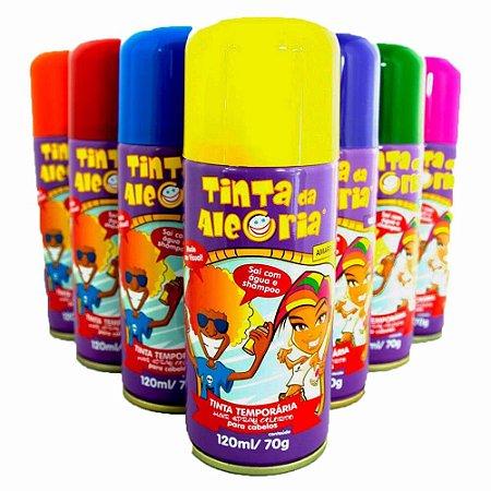 Tinta Da Alegria Em Spray P/ Cabelo - Várias Cores - Unidade - 120ml