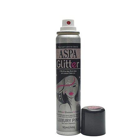 Maquiagem para Cabelos Aspa Glitter - Luxury Pink  - 95ml