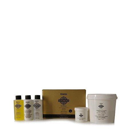 Relaxamento Guanidina 1 Aplicação / 2 Retoques Gold Black Amend - Kit COM SELO