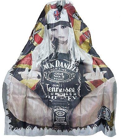 Capa para Barbearia estampada - Jack Daniel's - Tamanho Padrão