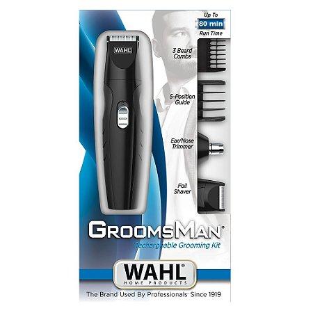 Aparador de Pelos Wahl Groomsman Grooming Kit (Dois Anos de Garantia)
