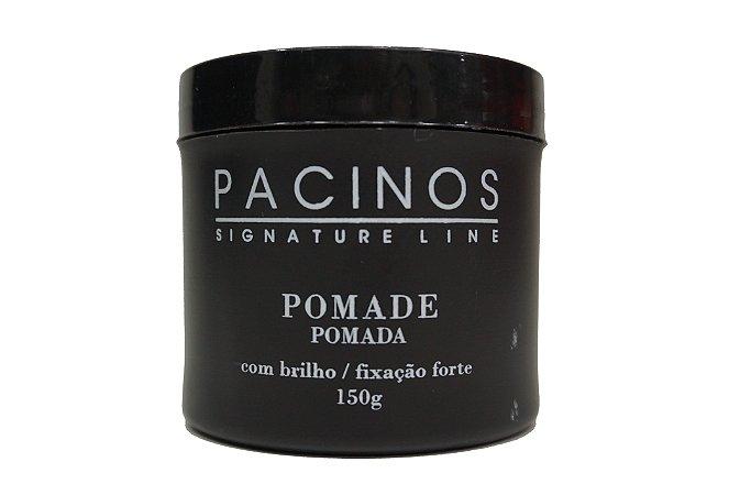 Pomada Pacinos Hair Grooming - Signature Line - Com brilho / fixação forte - 150g