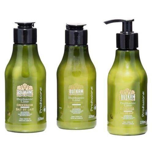 Combo Butkan: Shampoo Suave + Condicionador Day By Day + Máscara Finalizadora