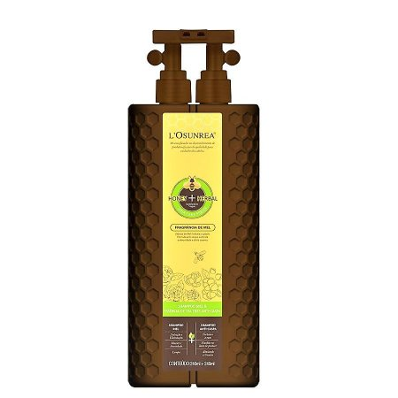 Shampoo Anti-Caspa L'Osunrea Mel & Essência Tea Tree