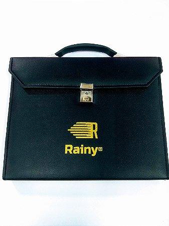 Maleta Mostruário para Tesouras etc. - 20 Vagas - Com Ziper - Couro Vegetal (Corino) - Rainy