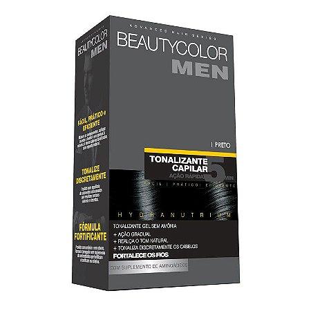 Tonalizante Capilar Gel Sem Amônia Beauty Color Men - Preto