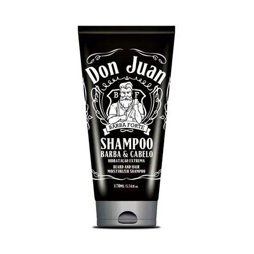 Shampoo Barba e Cabelo Don Juan Hidratação Extrema - Barba Forte - 170ml