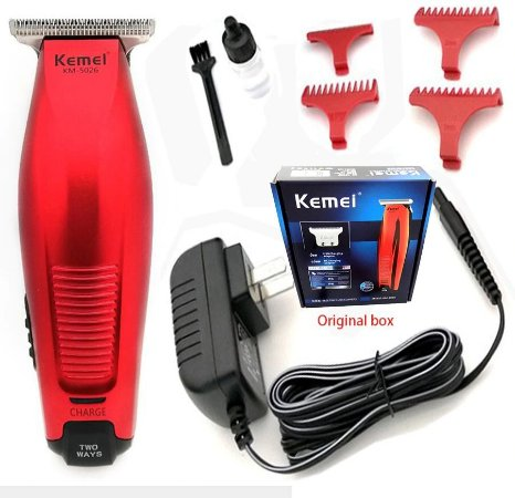 Máquina Kemei KM-5026 - Cabelo Barba Acabamento - Bivolt