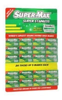 Lâmina de Barbear Super Max Super Stainless - 1 Cartela (100 Lâminas)