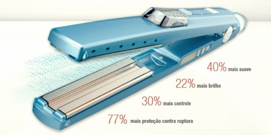Prancha Ultrasonic Nano Titanium Babyliss Pro 1+1/4